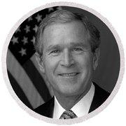 President George W. Bush Round Beach Towel