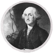 President George Washington Round Beach Towel by International  Images