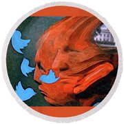 President Of Twitter Round Beach Towel