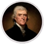 President Thomas Jefferson  Round Beach Towel