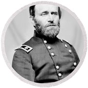 President Ulysses S Grant In Uniform Round Beach Towel by International  Images