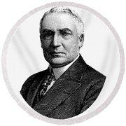 President Warren G. Harding Graphic Round Beach Towel
