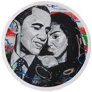 Presidential Love Round Beach Towel