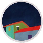 Presidio- Art By Linda Woods Round Beach Towel by Linda Woods