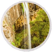 Preston Falls Tasmania Round Beach Towel
