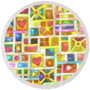 Pretty Boxes Round Beach Towel