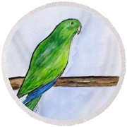 Pretty Boy Round Beach Towel by Clyde J Kell