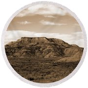 Pretty Butte Round Beach Towel