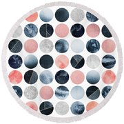 Pretty Dots Round Beach Towel