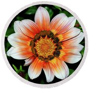 Round Beach Towel featuring the photograph Pretty Gazania By Kaye Menner by Kaye Menner