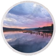 Pretty In Pink Round Beach Towel by Angelo Marcialis