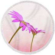 Round Beach Towel featuring the photograph Pretty In Pink by Roy McPeak