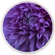 Pretty In Purple Round Beach Towel
