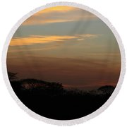 Pretty Pastel Sunset Round Beach Towel