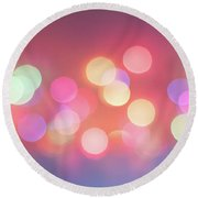 Pretty Pastels Abstract Round Beach Towel by Terry DeLuco