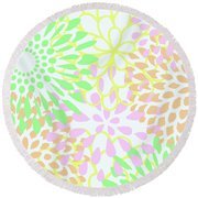 Pretty Pastels Round Beach Towel