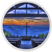 Pretty Place Chapel Sunrise 777  Round Beach Towel
