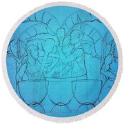 Previewghana Life Collection Series 1 Pounding Fufu Round Beach Towel