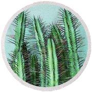 Prick Cactus Round Beach Towel