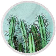 Prick Cactus Round Beach Towel
