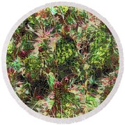 Prickly Conference Of Elders Round Beach Towel