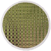 Prickly Pear Abstract # 5271wt Round Beach Towel