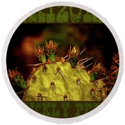 Prickly Pear Spring Round Beach Towel
