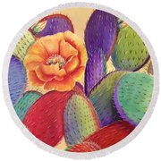 Prickly Rose Garden Round Beach Towel