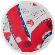 Pride - Glory - The Patriots Round Beach Towel