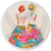 Round Beach Towel featuring the digital art Pride Not Prejudice by Nikki Marie Smith