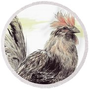 Pride Of A Rooster Round Beach Towel