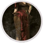 Priestess Of Delphi Round Beach Towel