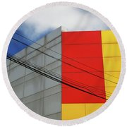 Round Beach Towel featuring the photograph Primarily 1 by Skip Hunt