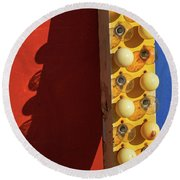Round Beach Towel featuring the photograph Primarily 2 by Skip Hunt
