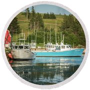Prince Edward Island Lobaster Boats Round Beach Towel