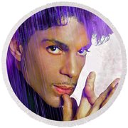 Prince For You Round Beach Towel