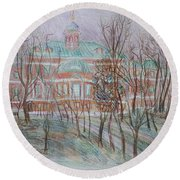 Prince Gagarin Mansion In Moscow Round Beach Towel