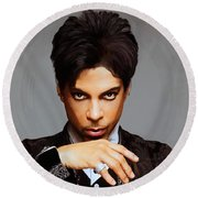 Prince Round Beach Towel by Paul Tagliamonte