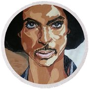 Prince Rogers Nelson Round Beach Towel
