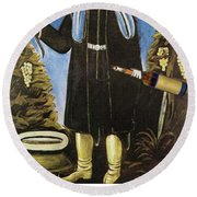 Prince With A Horn Of Wine Round Beach Towel