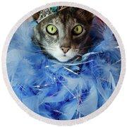 Princess Cat Round Beach Towel