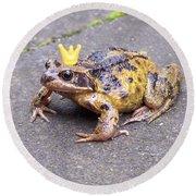 Princess Frog Round Beach Towel