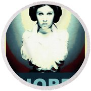Princess Leia Hope Round Beach Towel