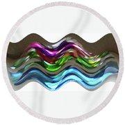Round Beach Towel featuring the digital art Prism Waves by Ellen Barron O'Reilly