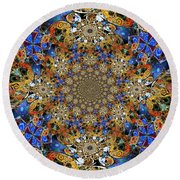 Prismatic Glasswork Round Beach Towel