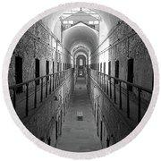 Prison Cell Hall Round Beach Towel