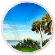 Private Paradise  Round Beach Towel by Carlos Avila