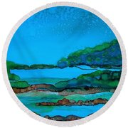 Private Property Round Beach Towel