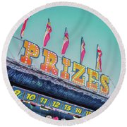Round Beach Towel featuring the photograph Prizes by Cindy Garber Iverson