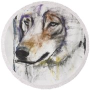 Processo Al Lupo Round Beach Towel by Mark Adlington